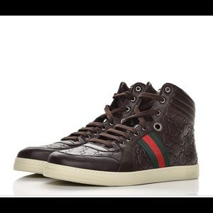 Gucci leather high top sneakers